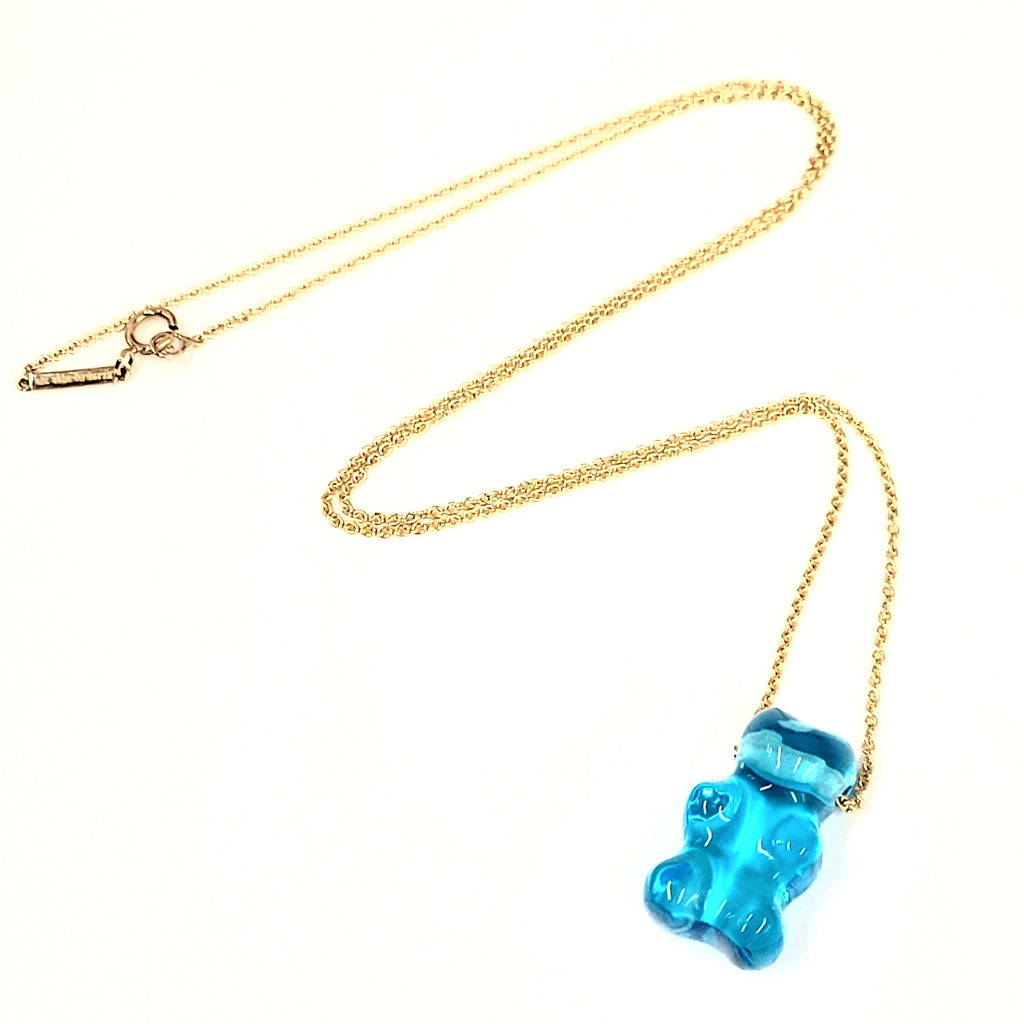 Lauren X Khoo Gummy Bear 18K Yellow-Gold and Quartz Necklace