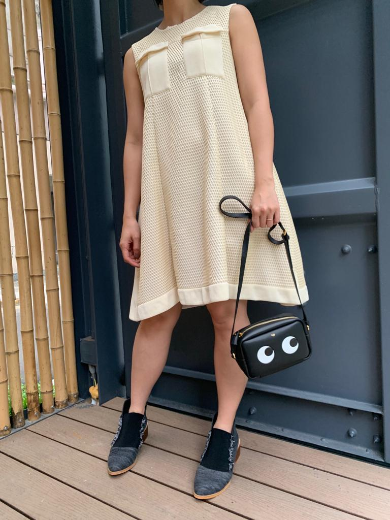 Sportmax two-pocket eyelet dress