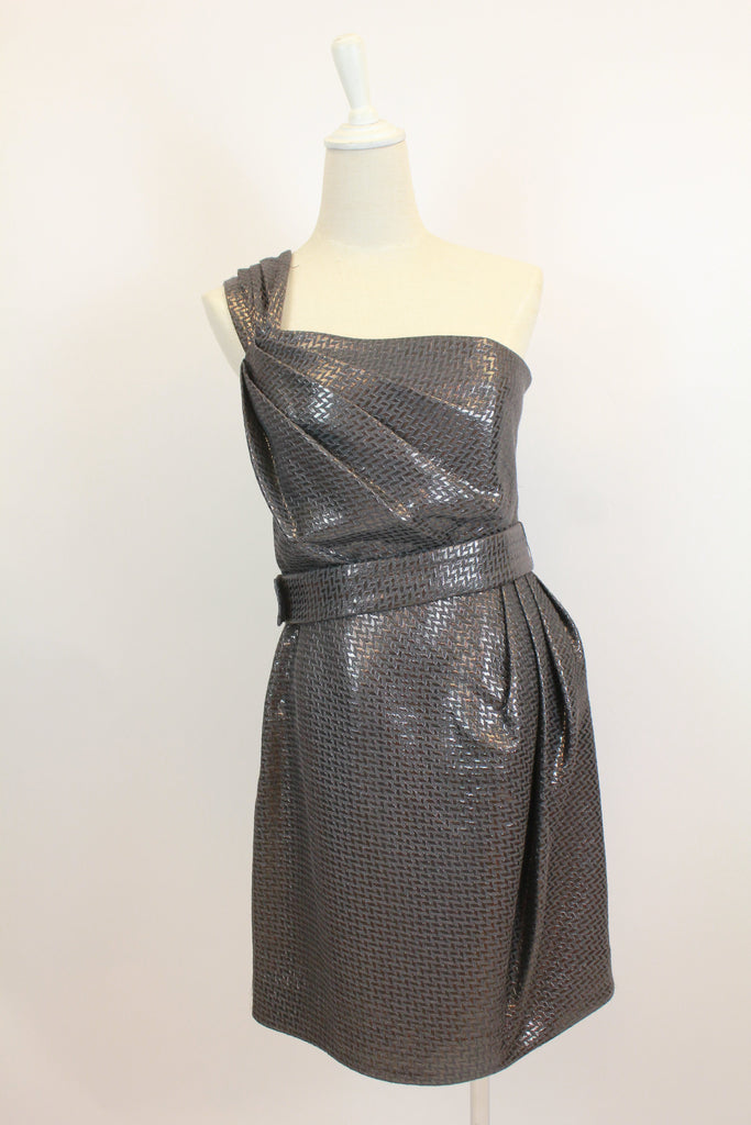 Matthew Williamson one shoulder metallic colour dress