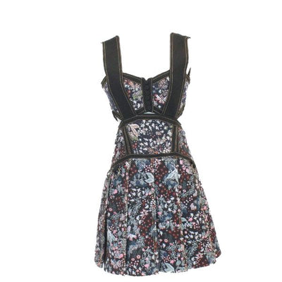 Self-Portrait floral cut-out dress