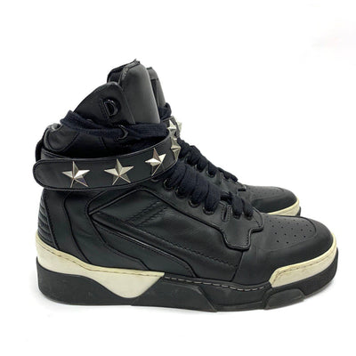 Givenchy Black Tyson Leather High-top Sneakers