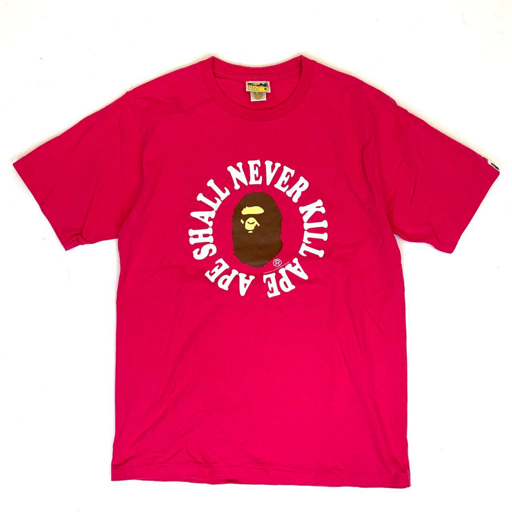 "A Bathing Ape Bape ""Ape Shall Never Kill Ape"" Tee"