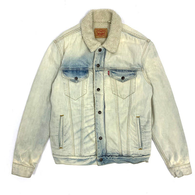 Supreme x Levis 16AW Bleached Sherpa Trucker Jacket