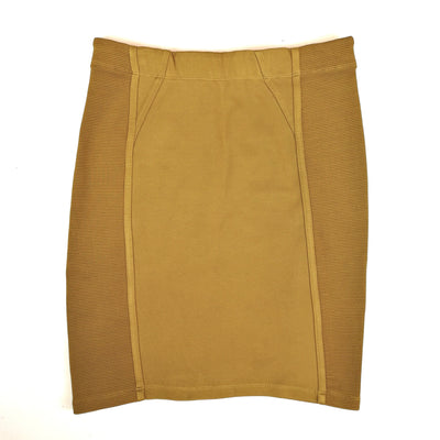 BCBG MAXAZRIA gold bodycon skirt