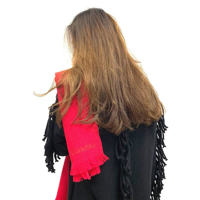 Valentino red scarf