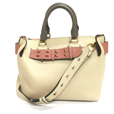 Burberry the leather belt bag (cream & pink)