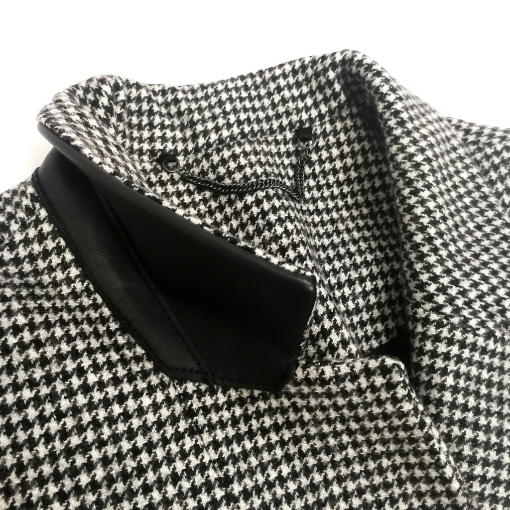 All Saints dogtooth long coat