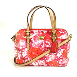 Coach floral crossbody bag