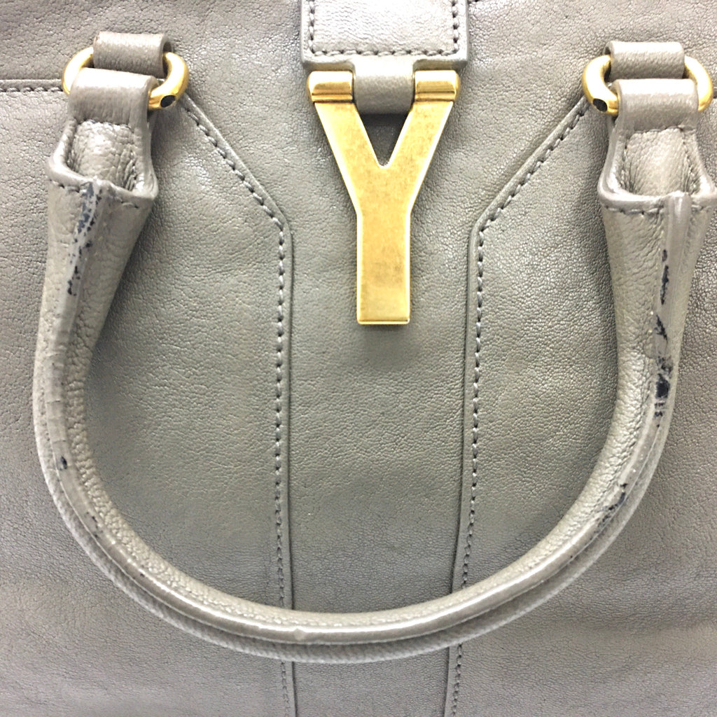 Saint Laurent Chyc Cabas Small Leather Tote