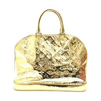 Louis Vuitton Limited Edition Gold Monogram Miroir Alma Bag