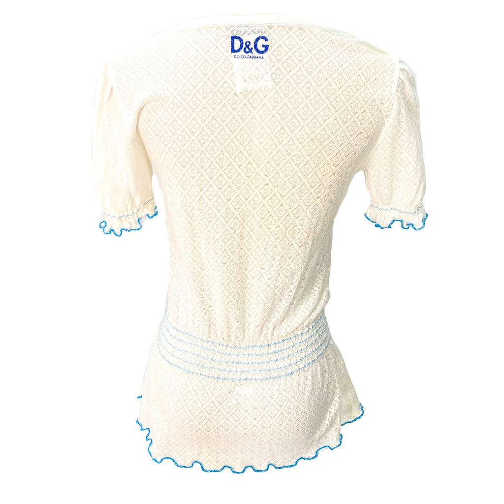 D&G embroidered white top