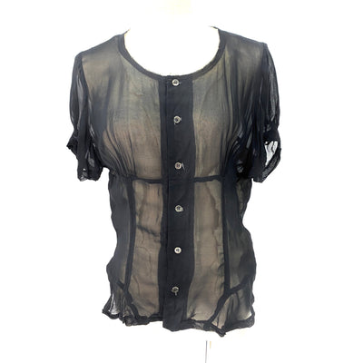 Comme des Garcons black sheer top