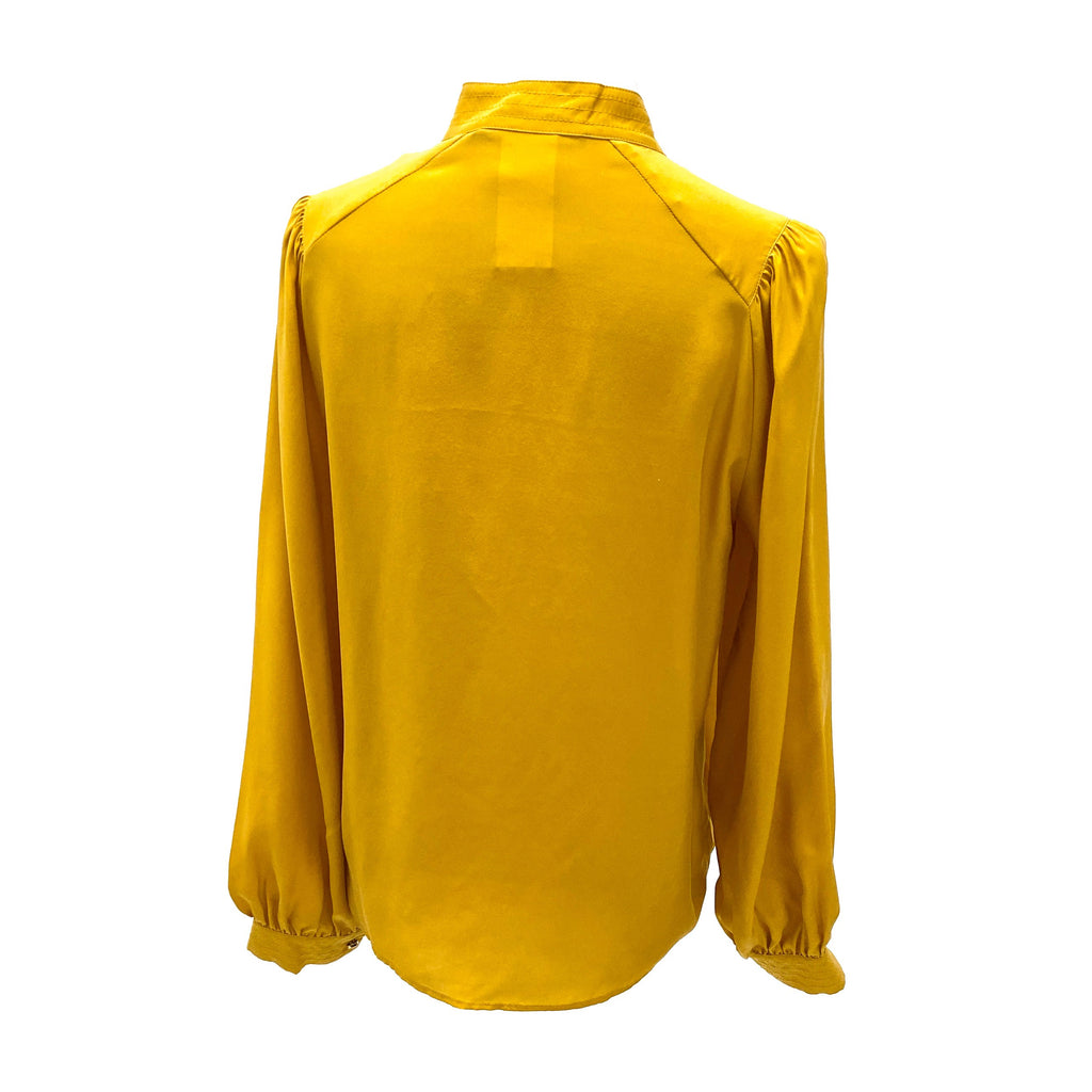 Pennyblack mustard colour round neck blouse