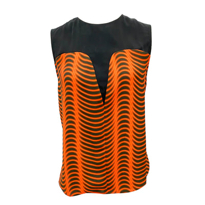 Kenzo orang abstract pattern vest top