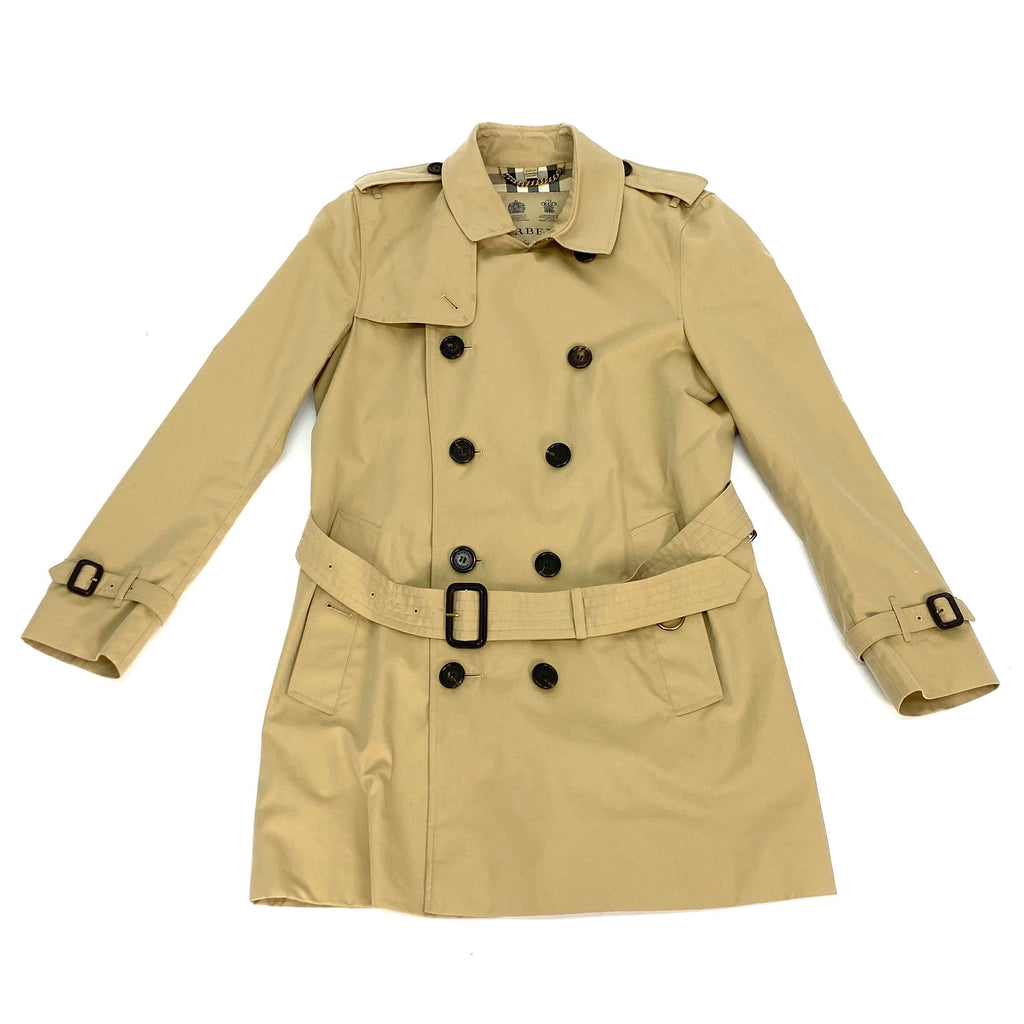 Burberry khaki trench coat
