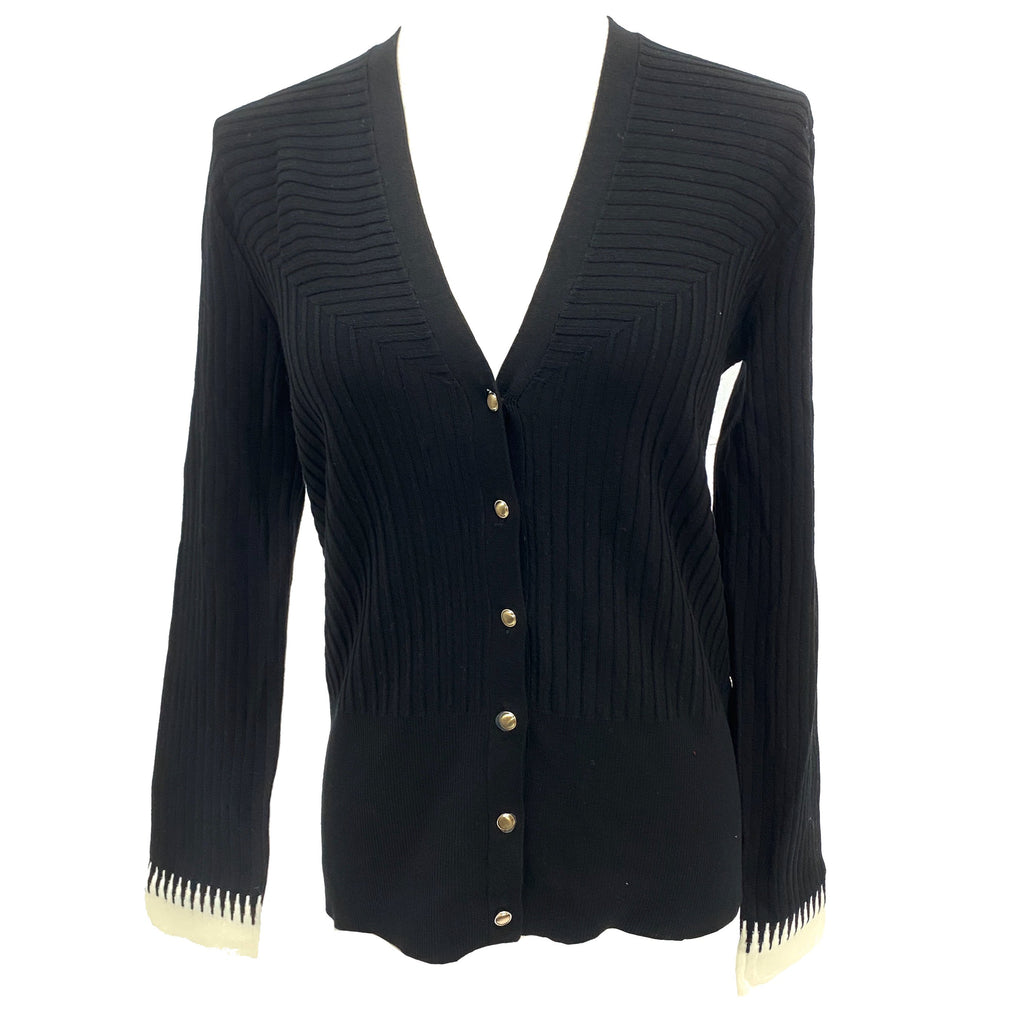 Pennyblack black cardigan with contrast colour cuff