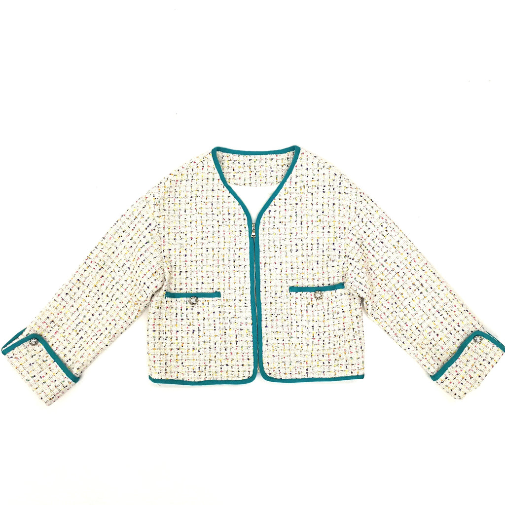 Chanel zipped tweed jacket