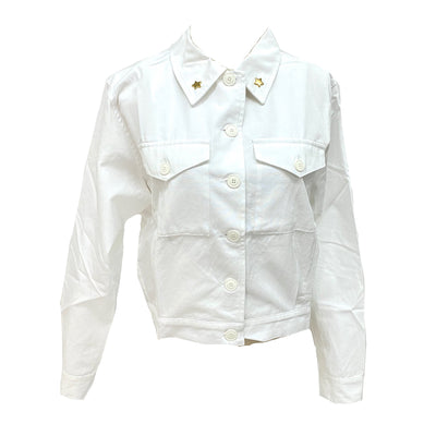 Agnes b white shirt with star embellishment