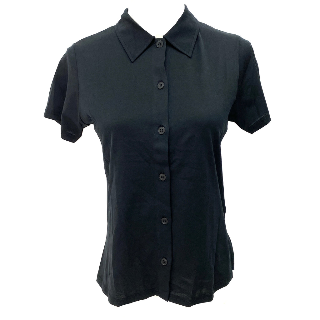 Agnes b black short sleeve blouse