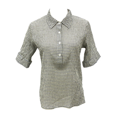 Agnes b short sleeve stretchy blouse