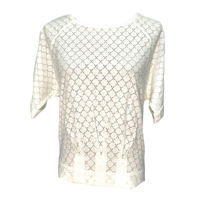 BCBG white short sleeve top