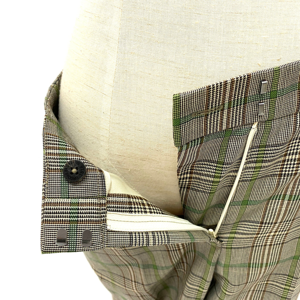 Brooks Brothers green & brown checked suits