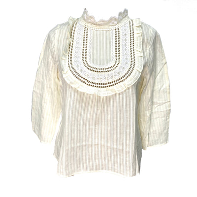 Max & Co. cream colour turtle neck blouse
