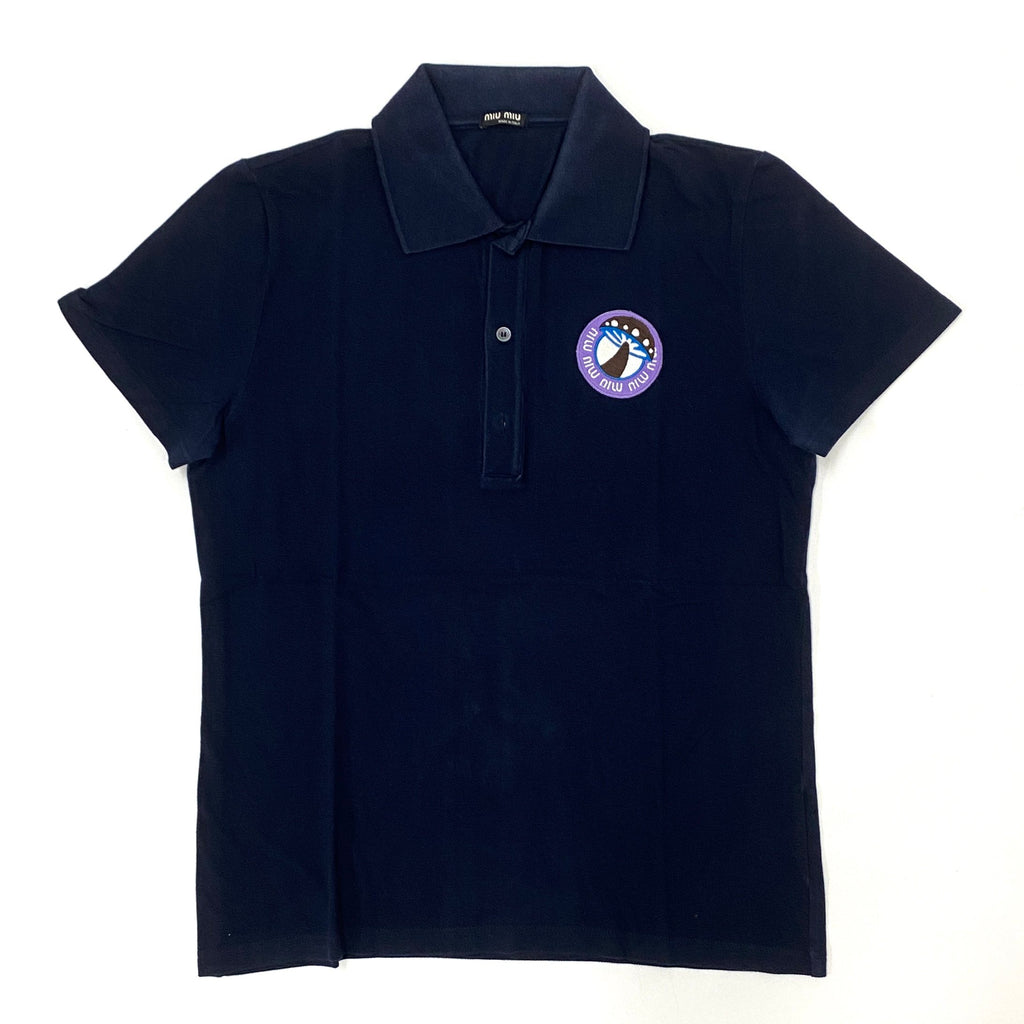 Miu Miu Navy Polo Shirt