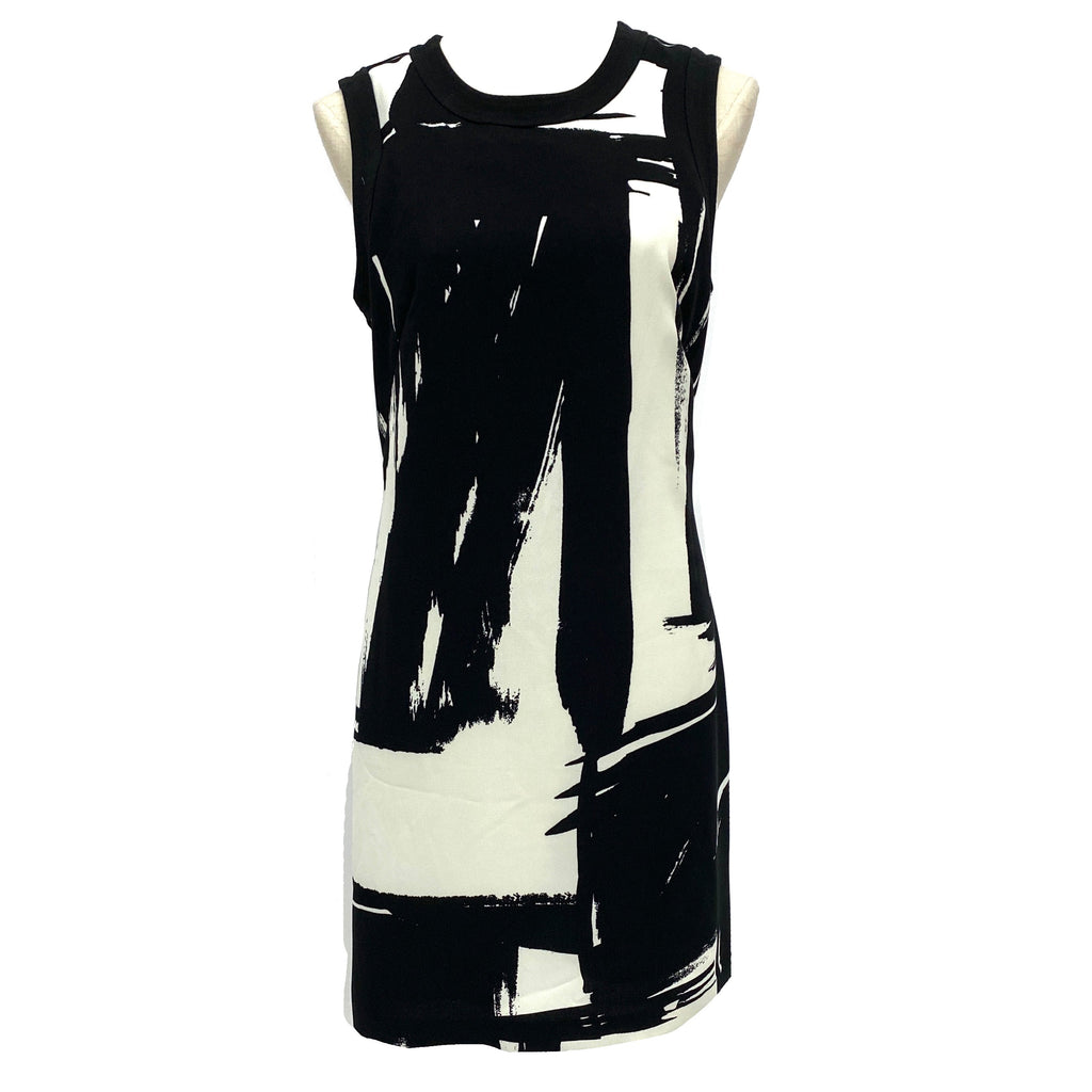 Banana Republic black and white sleeveless dress