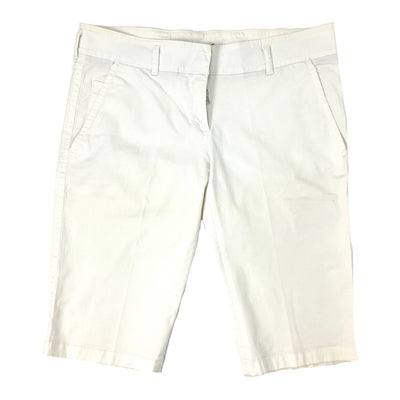 Prada white cotton shorts