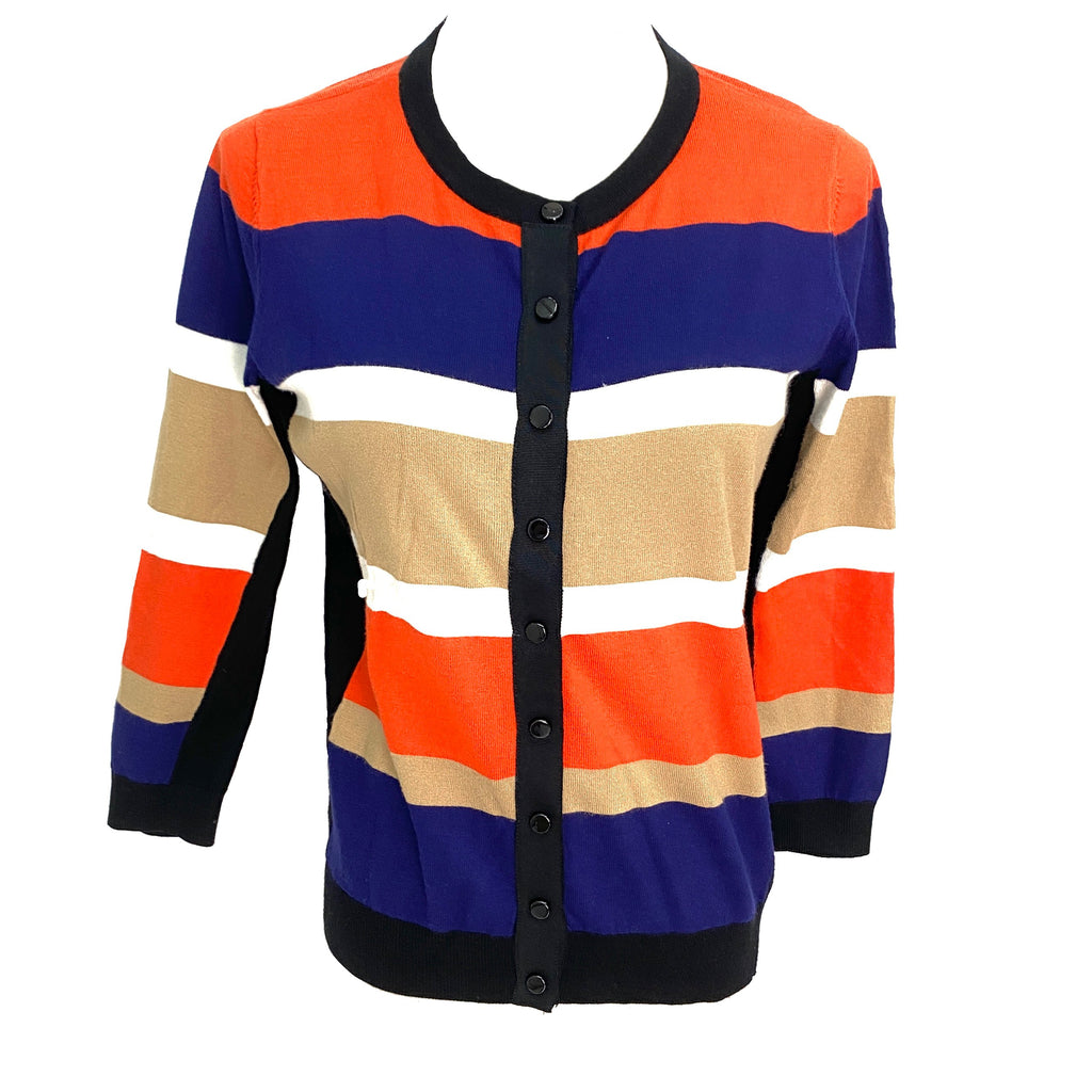 Karen Millen multi-colour striped knitted cardigan