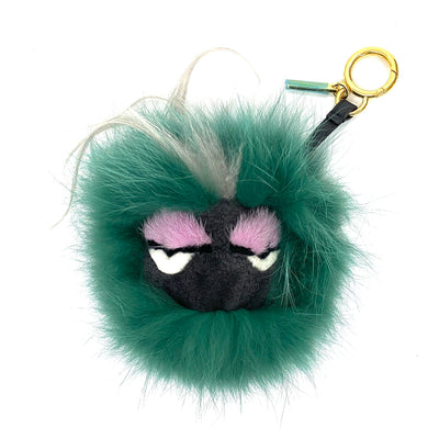 Fendi calfskin studded eye cube monster charm