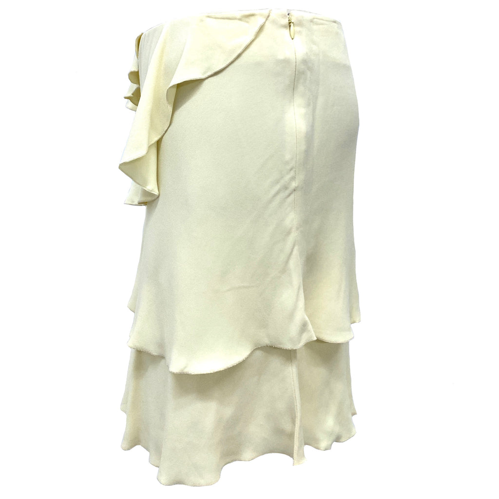 Valentino cream ruffle skirt