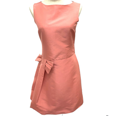 Red Valentino pink sleeveless dress with ribbon
