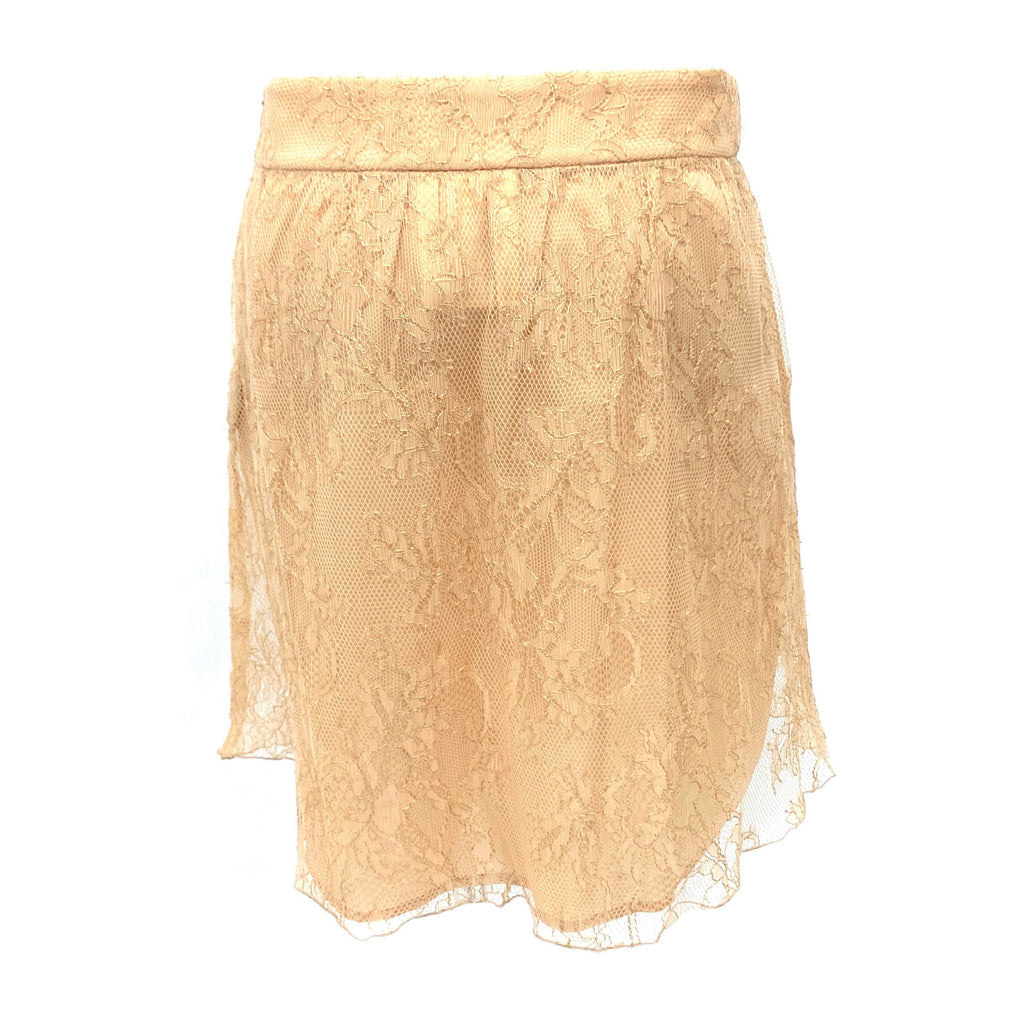Red Valentino beige lace skirt