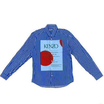 Kenzo Stripe Shirt (Blue Color)