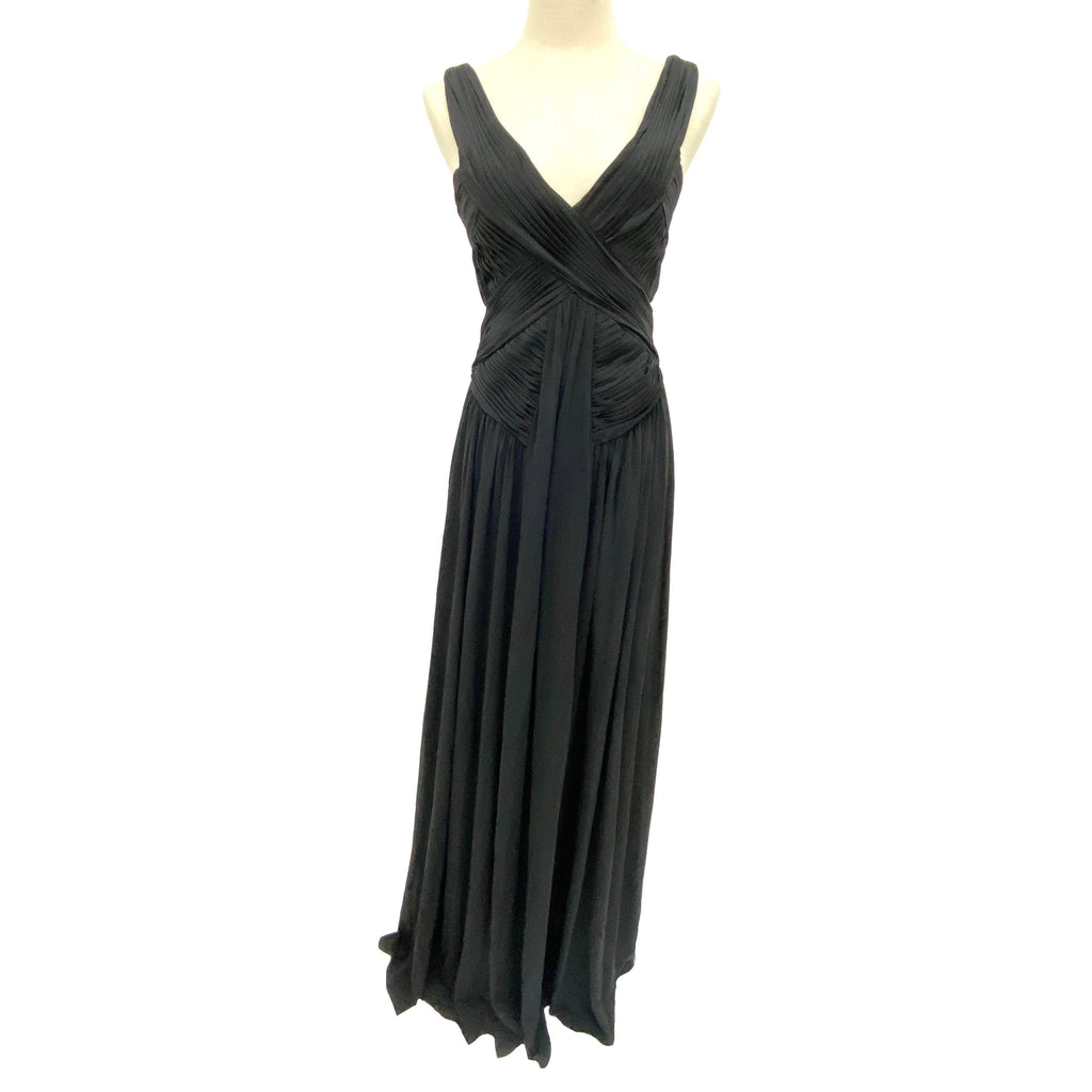 BCBG Maxazria black open back maxi dress
