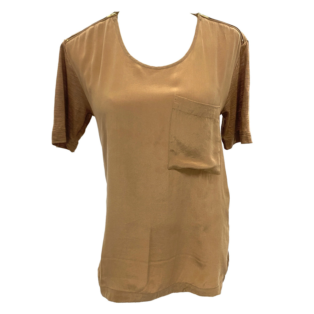 The Kooples brown top