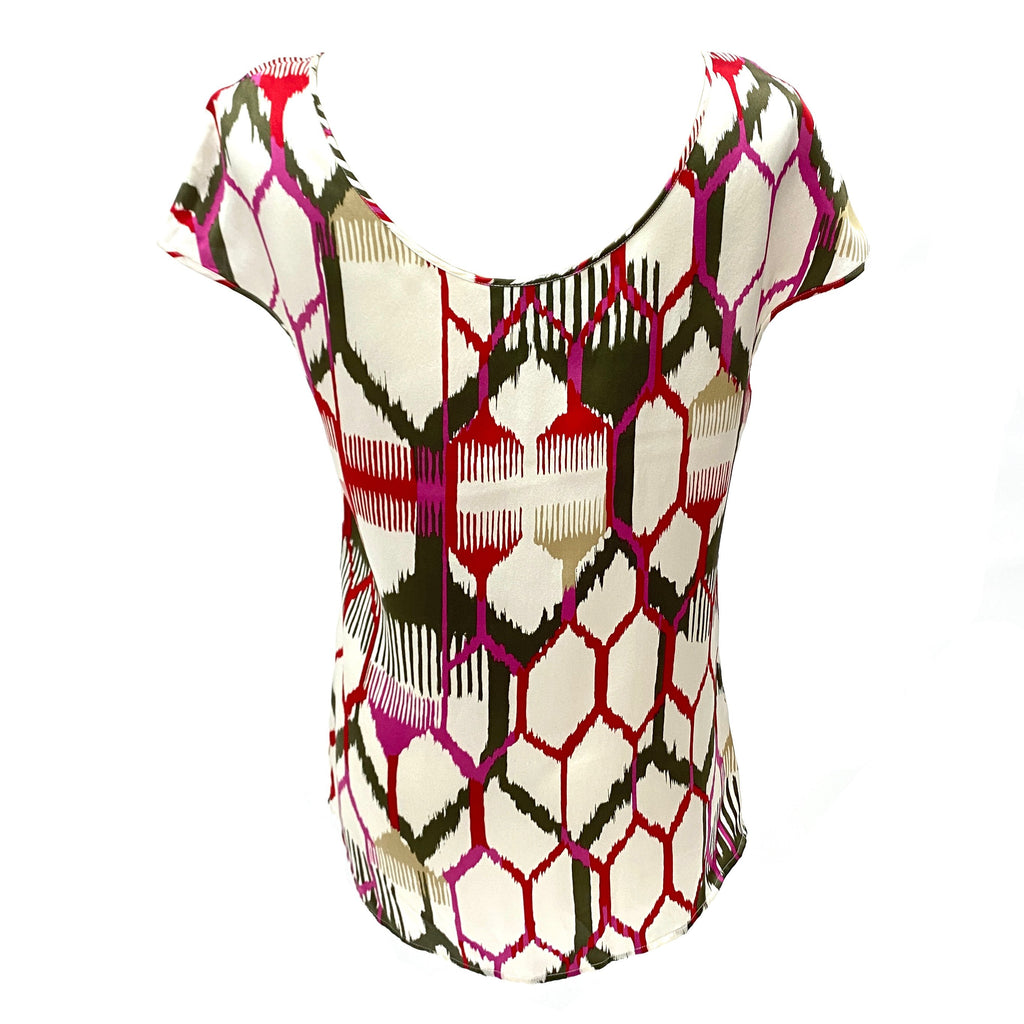 Escada abstract pattern silk top