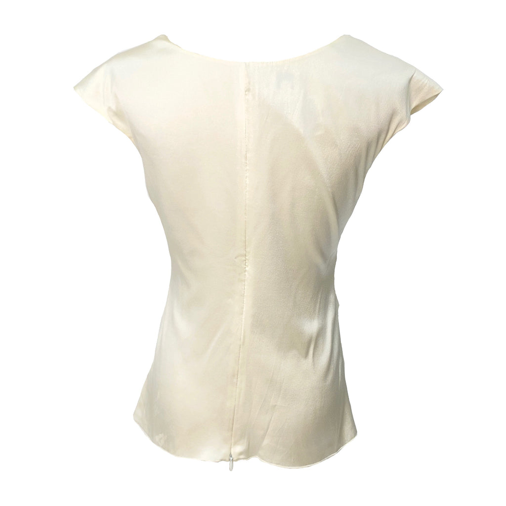 Armani Collezioni cream colour silk top