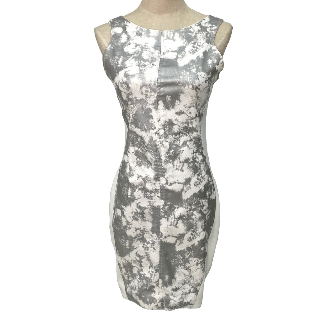 Nohke white and silver bodycon dress