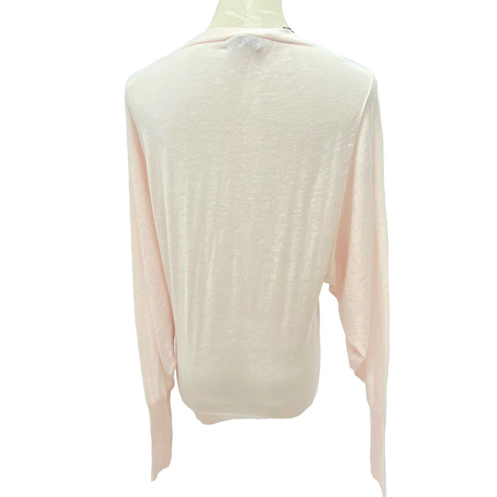 Reiss pink loose fit knit top