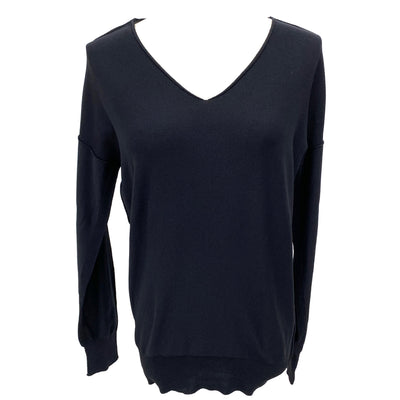 Zucca black V-neck knit top