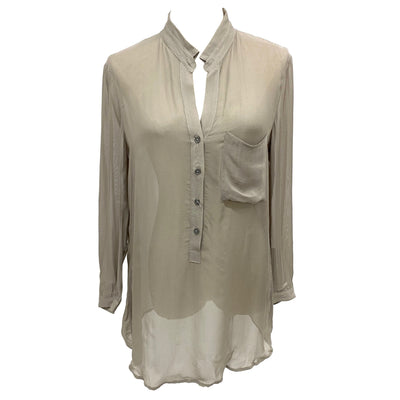 Helmut Lang for Intermix sheer blouse