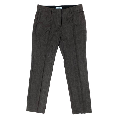 Prada brown virgin wool pants