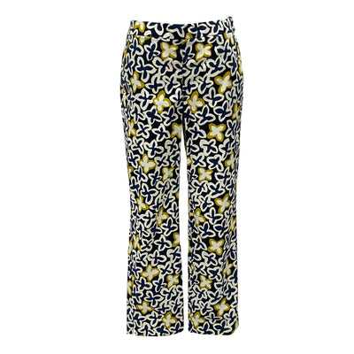 Max & Co. navy and yellow colour floral pattern pants