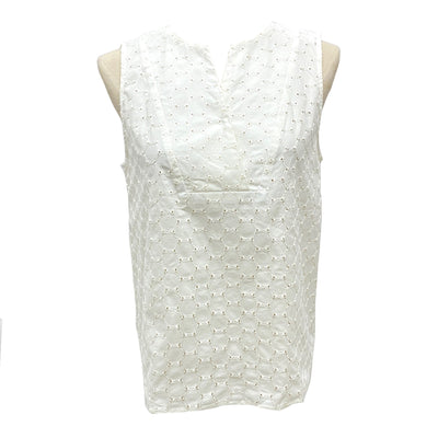 Max & Co. white eyelet cotton vest top