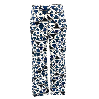 Max & Co. navy geometric pattern pants
