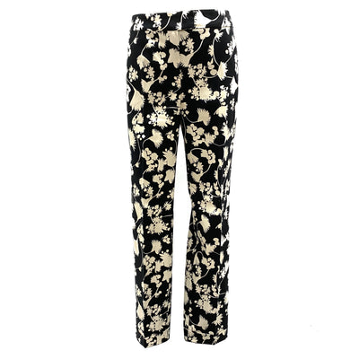 Max & Co. black floral pattern pants
