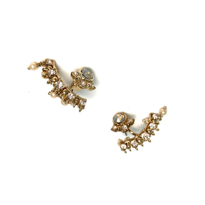 Lane's pearl and stone earrings